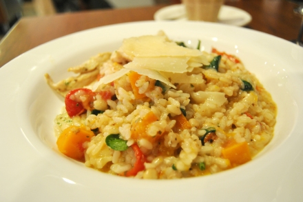 Chicken & pesto risotto